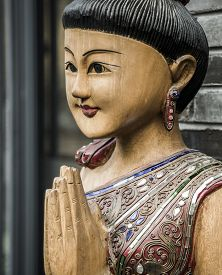 foto of woodcarving  - Southeast Asian Buddhism woodcarving art - JPG