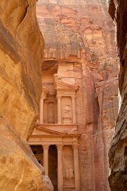 pic of treasury  - Al Khazneh or The Treasury at Petra Jordan - JPG