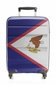 foto of samoa  - Suitcase painted into national flag series  - JPG