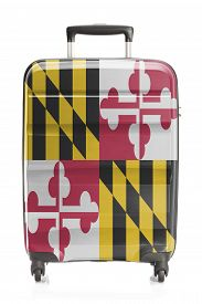 foto of maryland  - Suitcase painted into US state flag series  - JPG