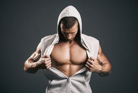 picture of hoods  - Sports guy in a tracksuit - JPG