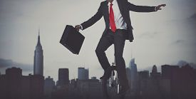 picture of adversity humor  - Businessman Taking Risk New York City Concept - JPG