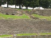 image of gaul  - Benches and steps at old Roman theater in Autun France - JPG
