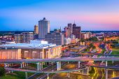 Memphis, Tennessee, USA downtown skyline at dusk. poster