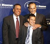 NEW YORK - NOV 11: Jose Cardinale, son Jesus, and Joe Torre attend the 8th Annual Joe Torre Safe at