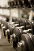 picture of lifting weight  - free weights - JPG