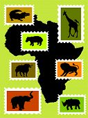 African Animals.Eps poster