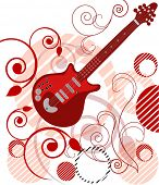 picture of jive  - guitar with filigree and artistic background series - JPG
