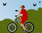 Постер, плакат: велосипед rider в парке