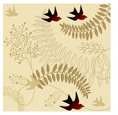 image of caw  - seasons change vector - JPG