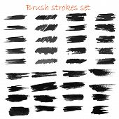 Grungy Hand Made Vector Brush Strokes Big Set. Elements For Design. Eps10 poster