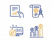 Web System, Document And Divider Document Icons Simple Set. Graph Chart Sign. Computer, File With Di poster