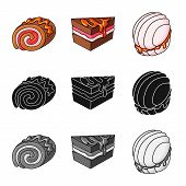 Vector Design Of Confectionery And Culinary Sign. Collection Of Confectionery And Product Vector Ico poster