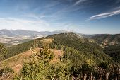 View From Mountain Glade Bellow Slema Hill In Autumn Nizke Tatry Mountains In Slovakia With Hills Of poster