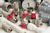 stock photo of spigot  - a Plumbing fixtures and the piping parts - JPG