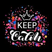 Keep Calm  Lettering. Word For Banner Or Poster. Vector Illustration poster