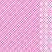 Geometric Striped Pattern With White Continuous Lines With Checkered Insert On Pink Background. Vect poster
