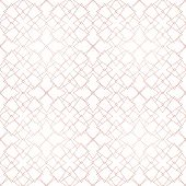 Rose Gold Geometric Seamless Pattern. Vector Metallic Copper Lines On White Background. Golden Ornam poster