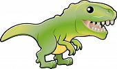 Постер, плакат: Симпатичные тиранозавр рекс динозавра Иллюстрация