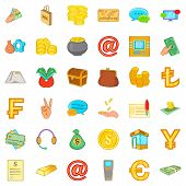 Tangible Asset Icons Set. Cartoon Set Of 36 Tangible Asset Icons For Web Isolated On White Backgroun poster