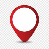 Map Location Pointer Icon On Transparent Background. Map Pin For Target Or Destination Drawing By Il poster