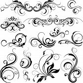 stock photo of floral design  - illustration drawing of floral frame vector format - JPG