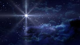 stock photo of magi  - The glow nice star at starry night - JPG