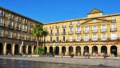 BILBAO, SPAIN - NOVEMBER 14: Plaza Nueva on November 14, 2012 in Bilbao, Spain. The main building, f