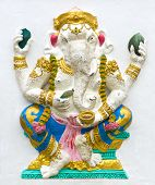 pic of ganapati  - Hindu ganesha God Named Maha Ganapati at temple in thailand - JPG