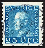 Postage Stamp Sweden 1925 Gustaf V, King Of Sweden