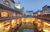 pic of avon  - Roman Baths in Bath Avon in the United Kingdom - JPG
