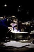 foto of tig  - Man welding in factory shot on  - JPG