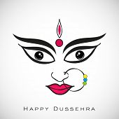 picture of navratri  - Illustration of Goddess Durga for Indian festival Desshra background - JPG