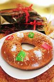 pic of epiphany  - spanish three kings cake eaten on epiphany day - JPG
