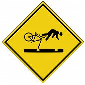 pic of warning-signs  - bike crash sign - JPG