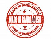stock photo of bangladesh  - Grunge rubber stamp with text Made in Bangladesh - JPG