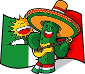 picture of cactus  - Cartoon Cinco de Mayo Cactus - JPG