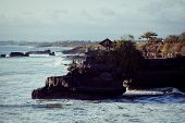 stock photo of tanah  - Tanah Lot Temple on Sea in Bali Island Indonesia - JPG
