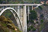picture of bixby  - Caliofrnia Bixby Creek Bridge Closeup - JPG