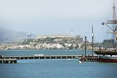 stock photo of alcatraz  - Famous Alcatraz Island Located in the San Francisco Bay - JPG
