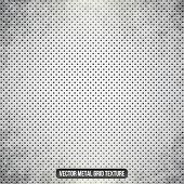 picture of monochromatic  - Metal white vector grid - JPG