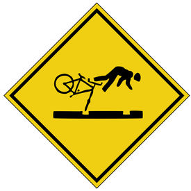 foto of warning-signs  - bike crash sign - JPG