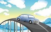 picture of long winding road  - Illustration of a car at the road - JPG