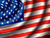 picture of waving american flag  - VECTOR American flag waving in the wind - JPG