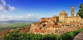 Постер, плакат: beautiful old Volterra medieval town of Tuscany Italy