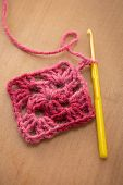 Granny square pattern and crochet cook