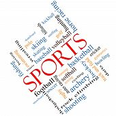 Sports Word Cloud Concept Angled
