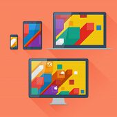 Vector illustration of user interface on digital devices