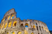 stock photo of elliptical  - The Colosseum or the Coliseum originally the Amphitheatrum Flavium an elliptical amphitheatre in Rome Italy - JPG