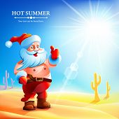 foto of hot pants  - Santa Claus in the summer - JPG